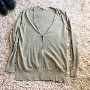 LOFT Sweaters - ✨ LOFT Champagne Zip Up Cardigan